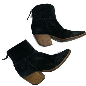 Matisse Soho Black Suede Western Booties Size 6.5